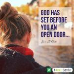 He has set before you an open door