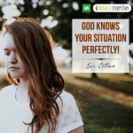 God is not uninvolved in your situation.