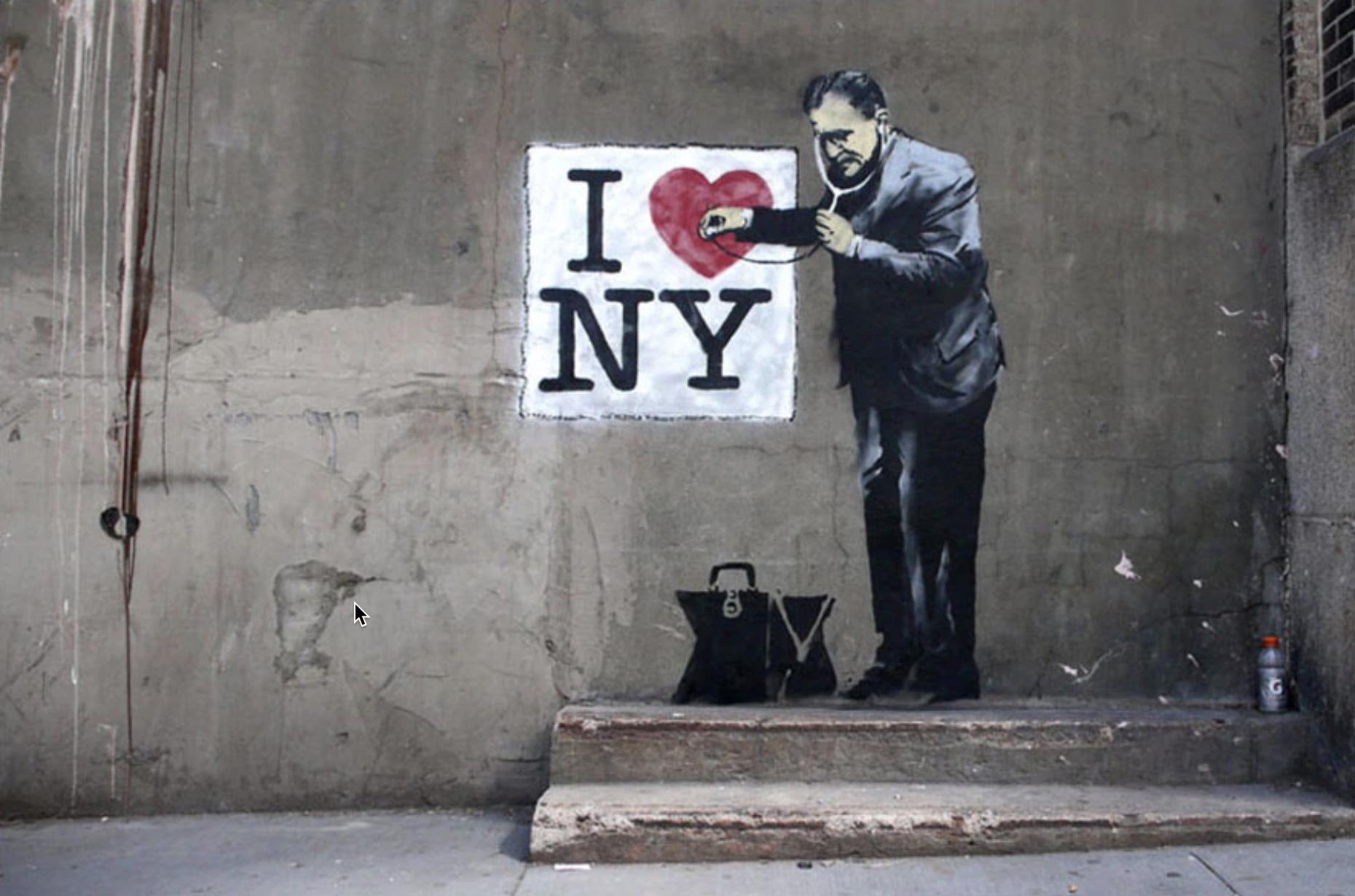 Banksy : I Love NY