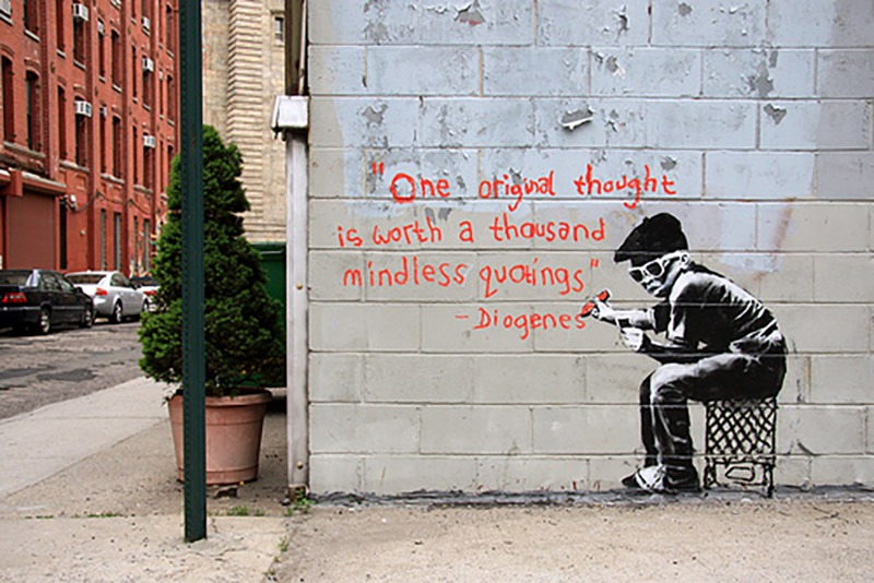 One original thought : Banksy