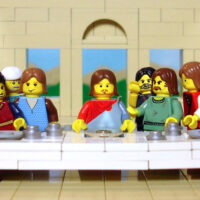 LEGO recreation of The Last Supper