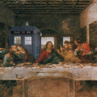 Last Supper - with the Timemachine of Doctor Who, the Tardis