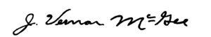 McGee signature
