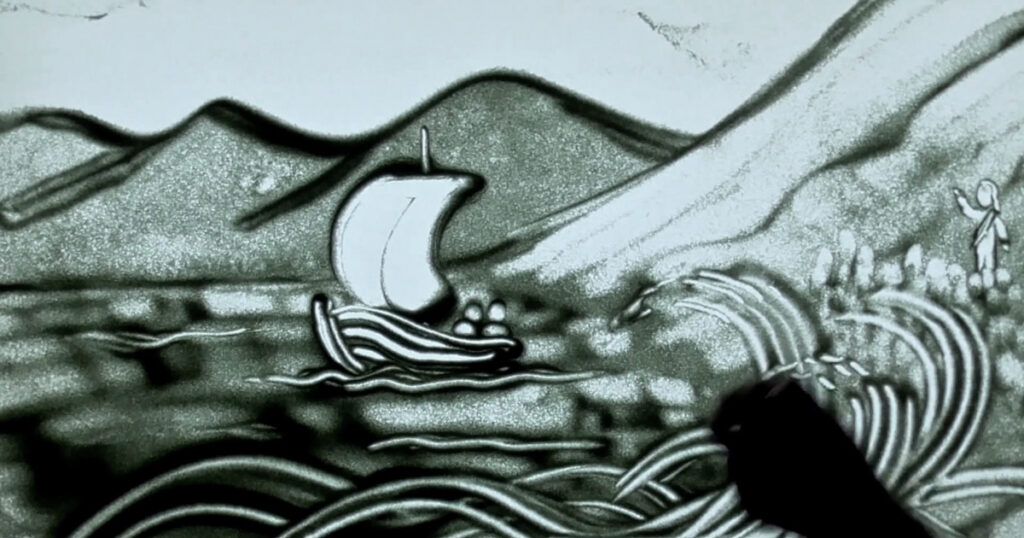 SandyTales - Jesus walks on water