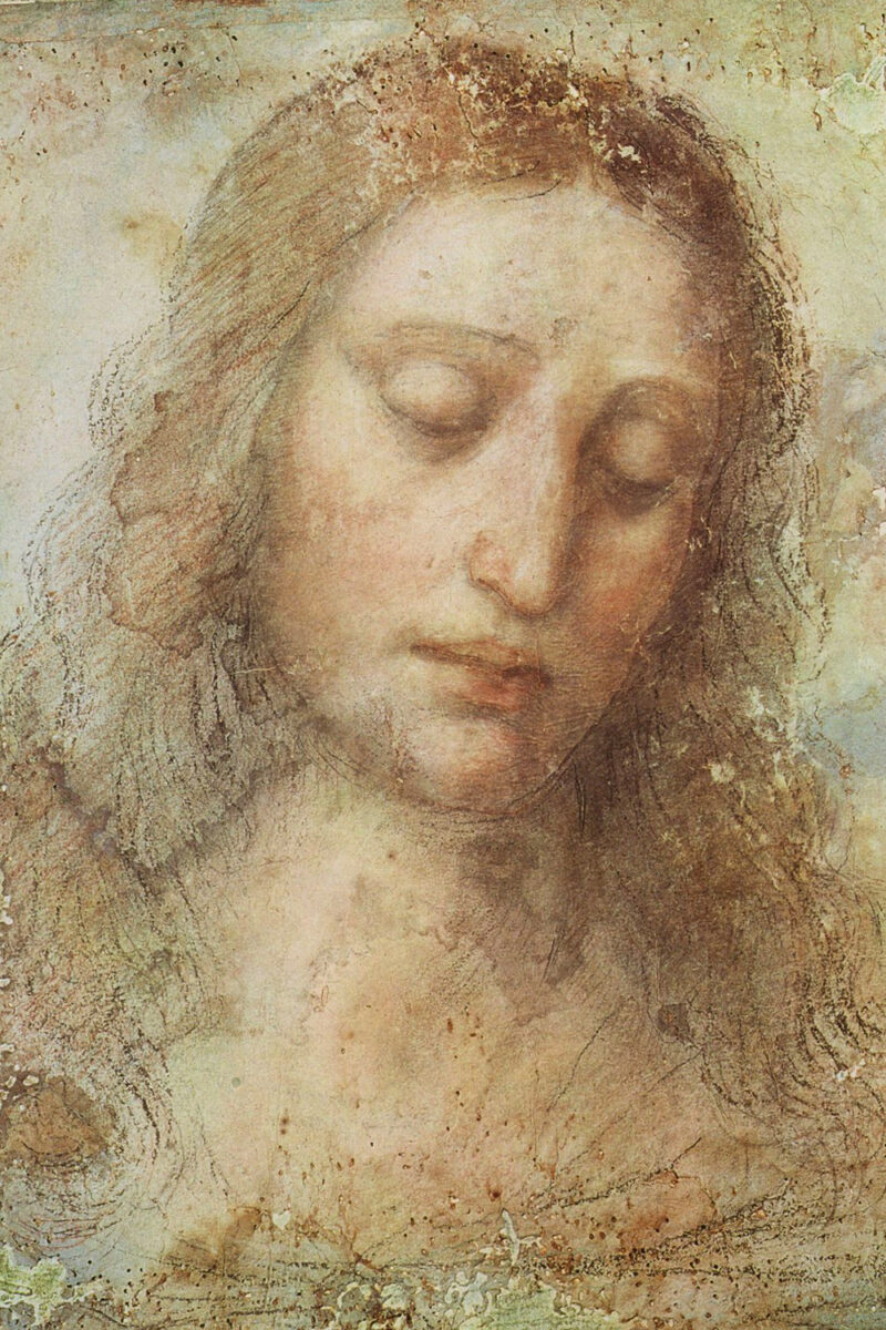 Study for the Head of Christ for the Last Supper, 1495, drawing on paper