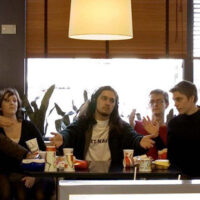 A group of friends recreated the Last Supper scene in McDonalds