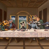 Disney's Mickey Mouse in Last Supper recreation