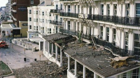 Brighton hotel after the blast