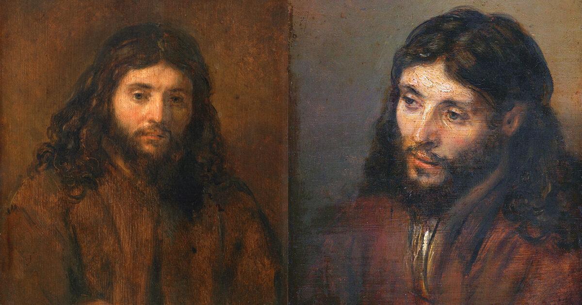 Portraits of Christ from the Dutch painter Rembrandt van Rijn