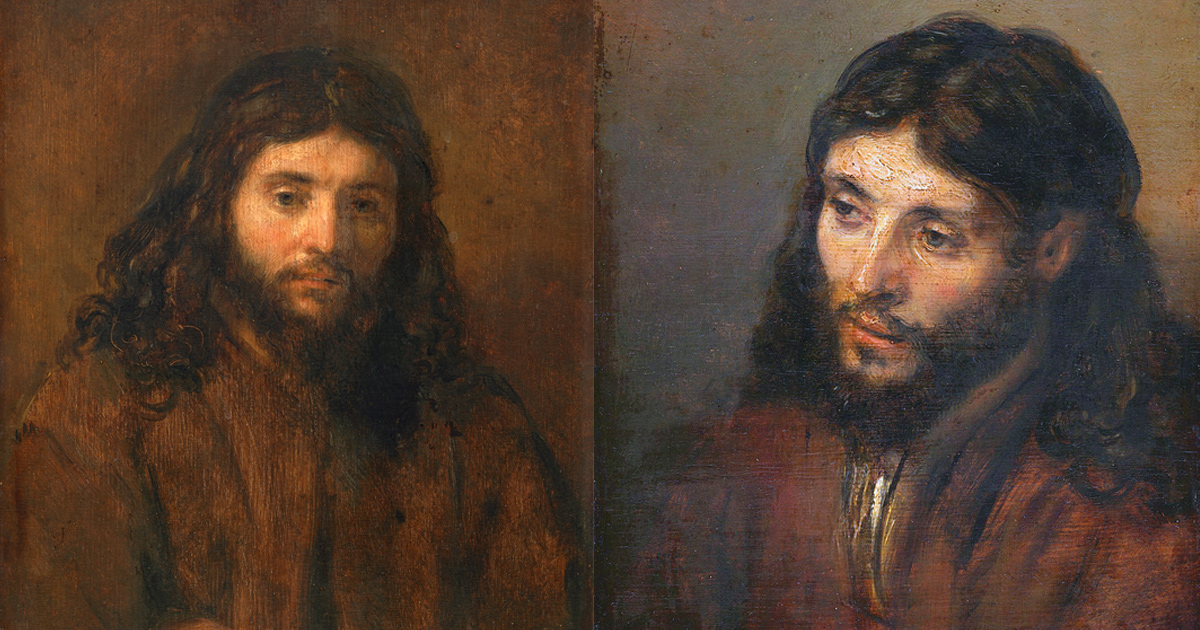 Portraits of Christ from the Dutch painter Rembrandt van Rijn