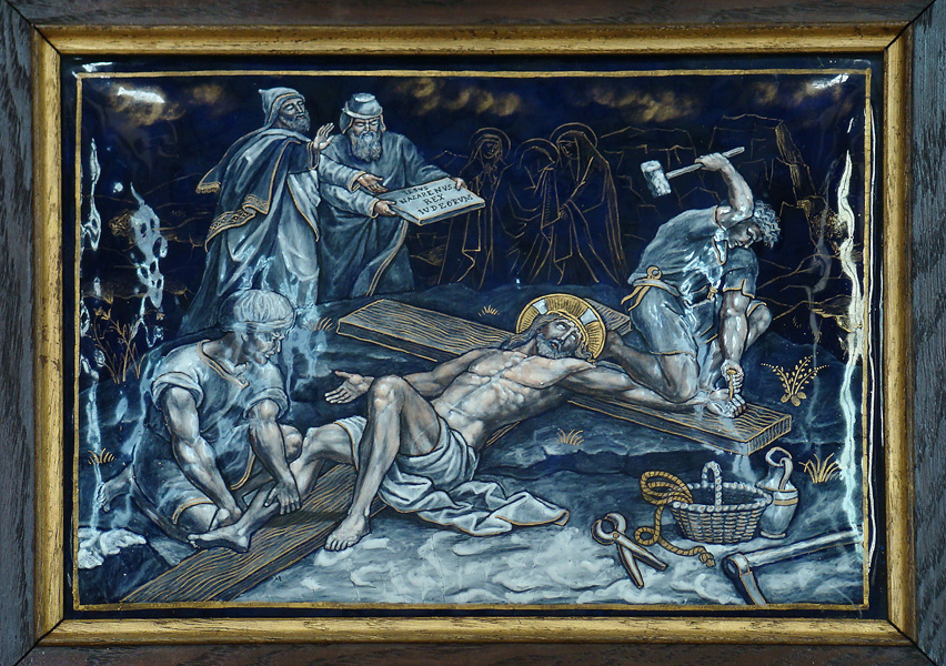 ELEVENTH STATION: Jesus is nailed to the Cross