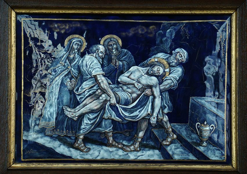 FOURTEENTH STATION: Jesus is laid in the tomb