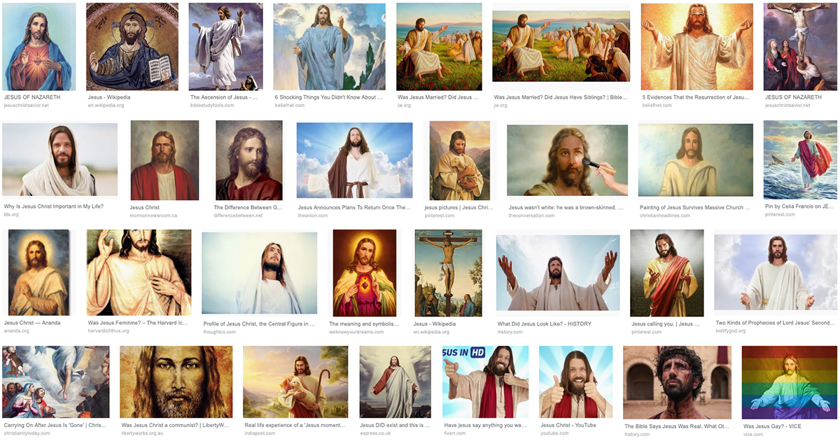 Google Image search results for Jesus