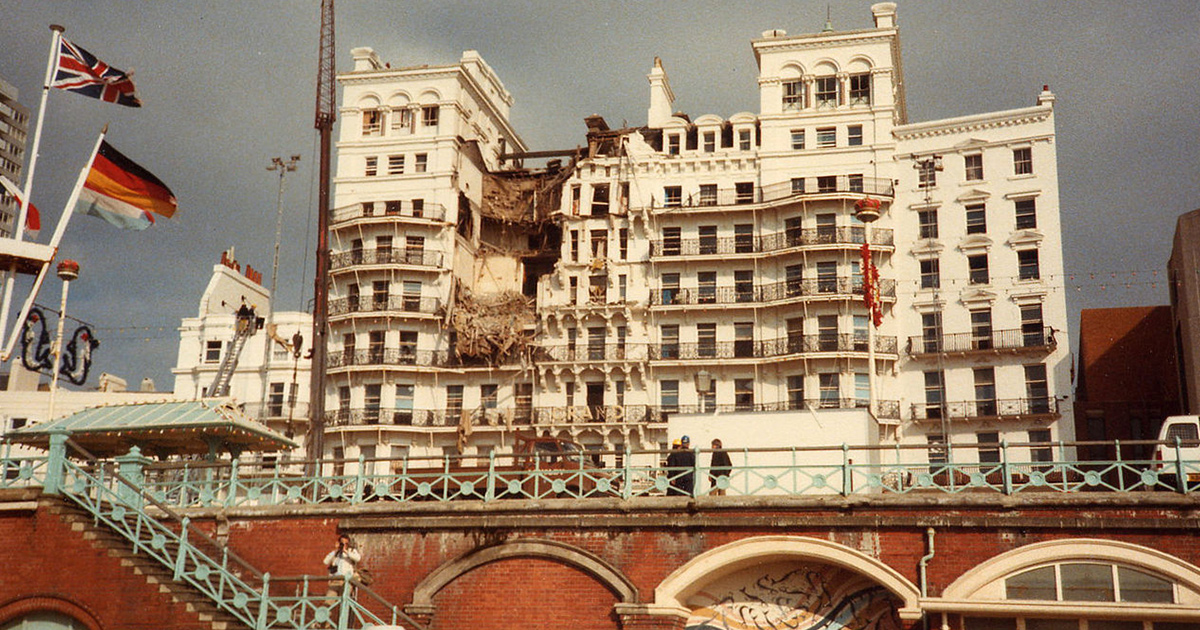Grand Hotel Following Bomb Attack 1984