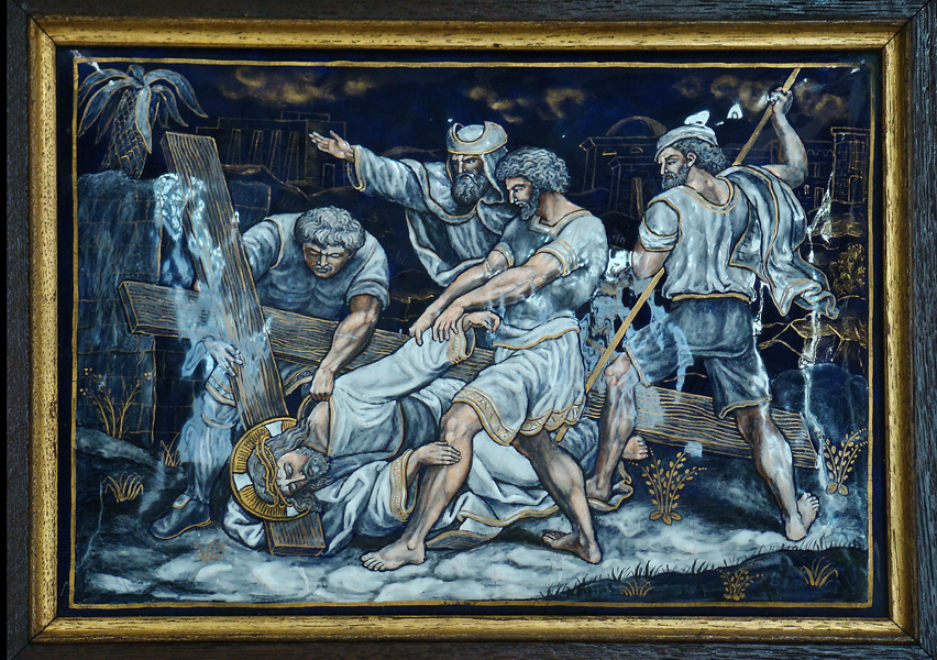 NINTH STATION: Jesus falls for the third time