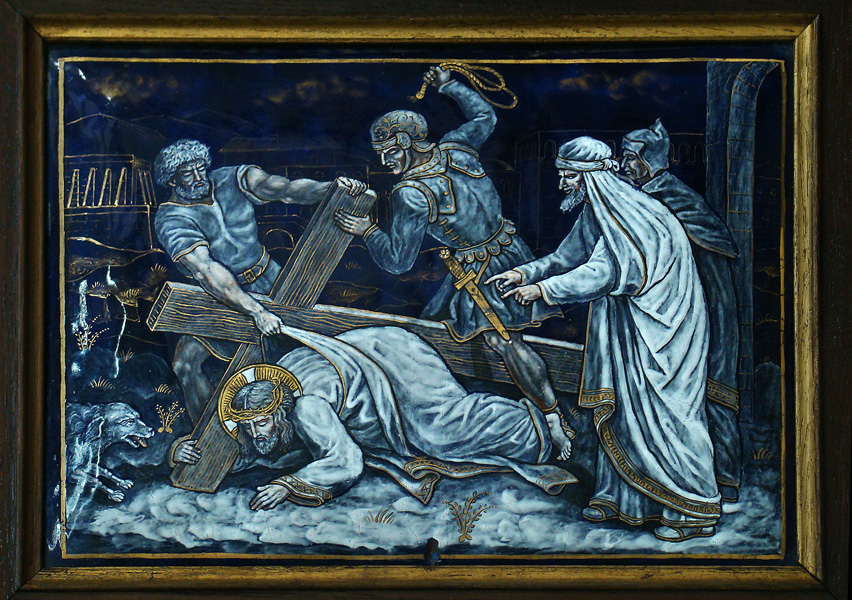SEVENTH STATION: Jesus falls for the second time