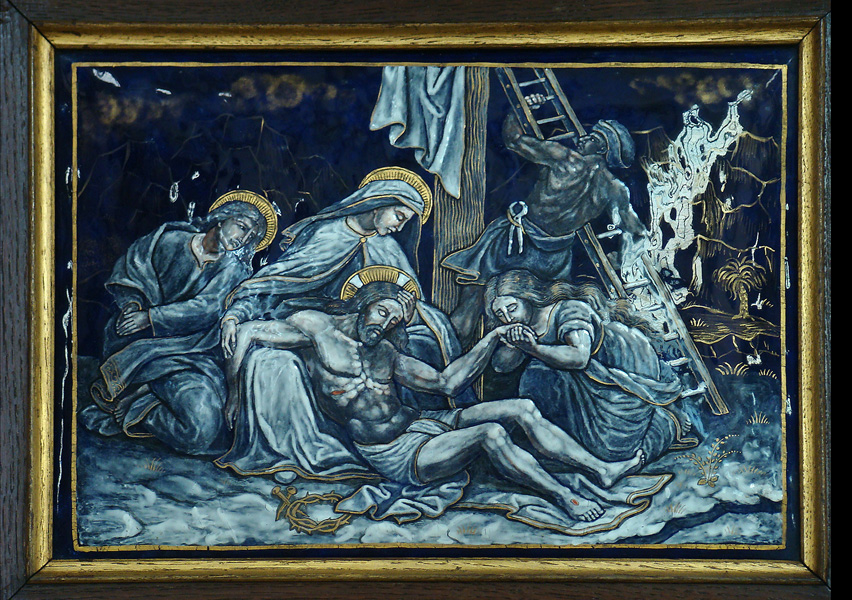 THIRTEENTH STATION: Jesus is taken down from the Cross and given to his Mother