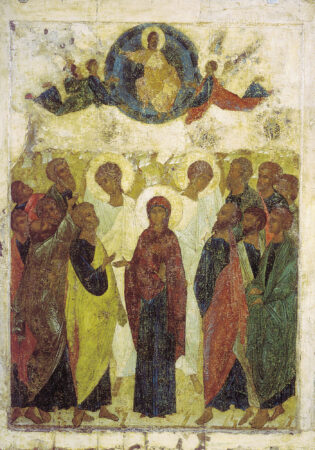 Icon of the Ascension of jesus (Andrei Rublev, 1408)