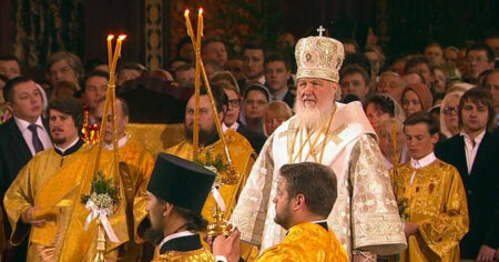 Russian Orthodox service, Moscow